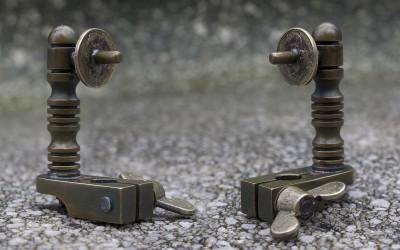 Little antiqued brass handpoking tool.