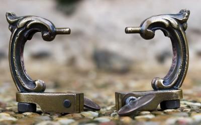 Vintage brass handpoking tool.