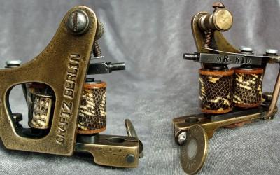Vintage Jensen brass liner for Mr. Kim, Craftz Berlin. Snake skin covered coils.