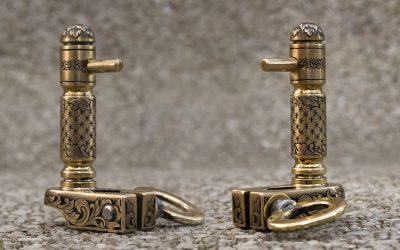 Fully engraved brass handpoking tool.